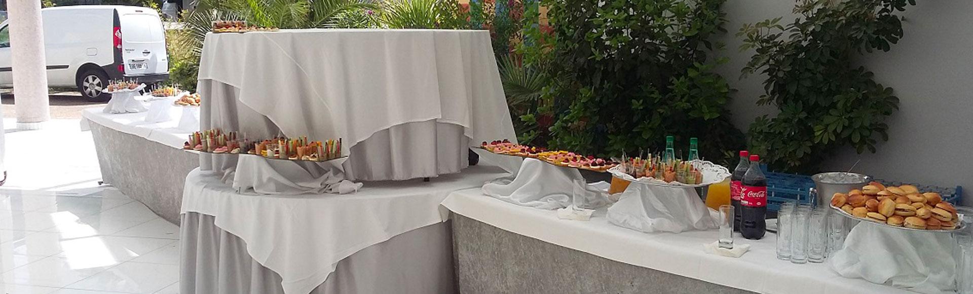 Terrasse buffet reception
